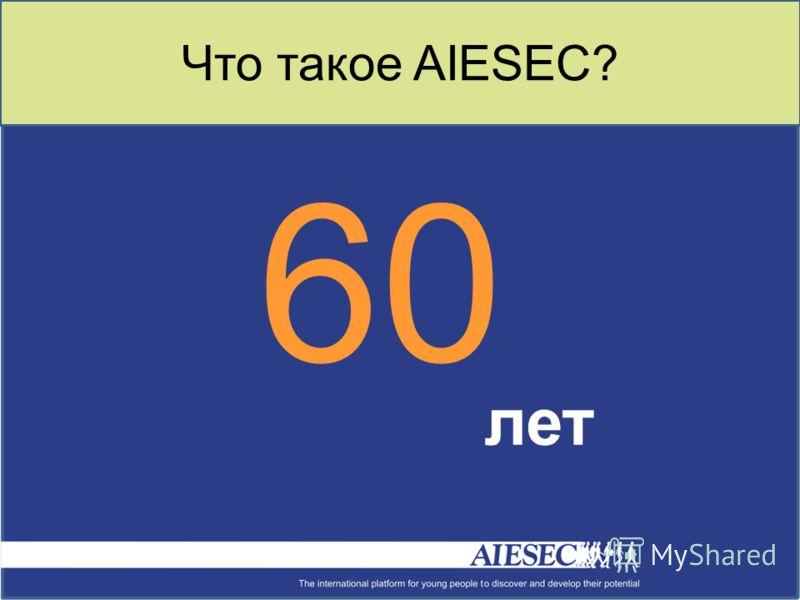 Что такое AIESEC? 60 лет