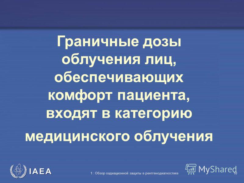 IAEA 1 : Обзор оадиационной защиты в рентгенодиагностике9 Помогая своему ребёнку при диаг- ностической проце- дуре, г-н Джозеф получил 2 мЗв. Поскольку допустимая доза для населения составляет 1 мЗв, он не может быть облучён в этом году. ???????