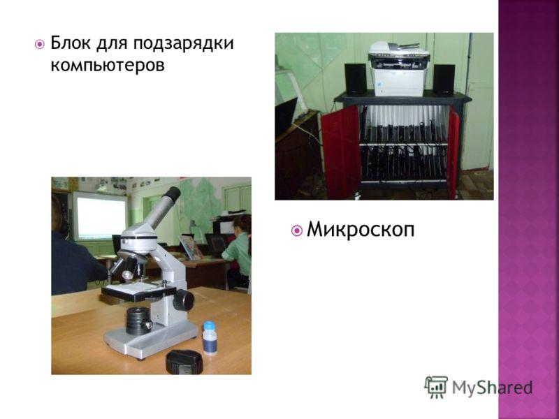 Блок для подзарядки компьютеров Микроскоп