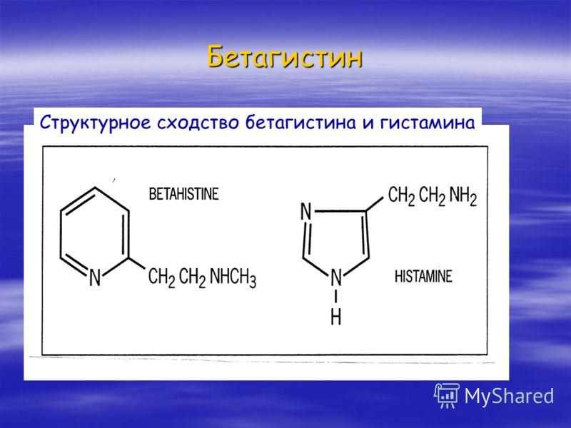 Бетагистин Структурное сходство бетагистина и гистамина