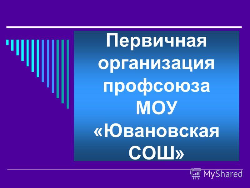 Первичная организация профсоюза МОУ «Ювановская СОШ»