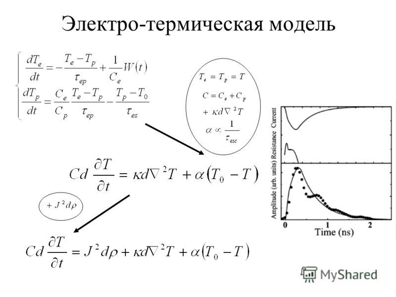 Электро-термическая модель