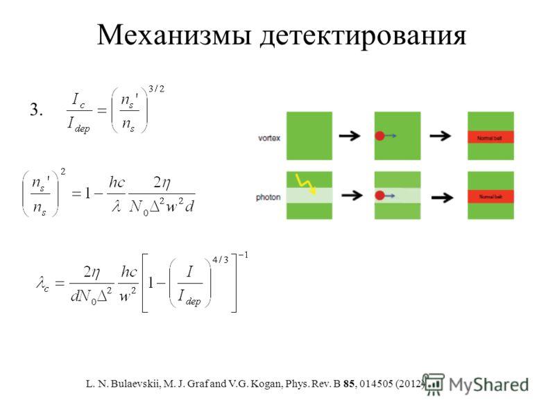 Механизмы детектирования 3. L. N. Bulaevskii, M. J. Graf and V.G. Kogan, Phys. Rev. B 85, 014505 (2012)