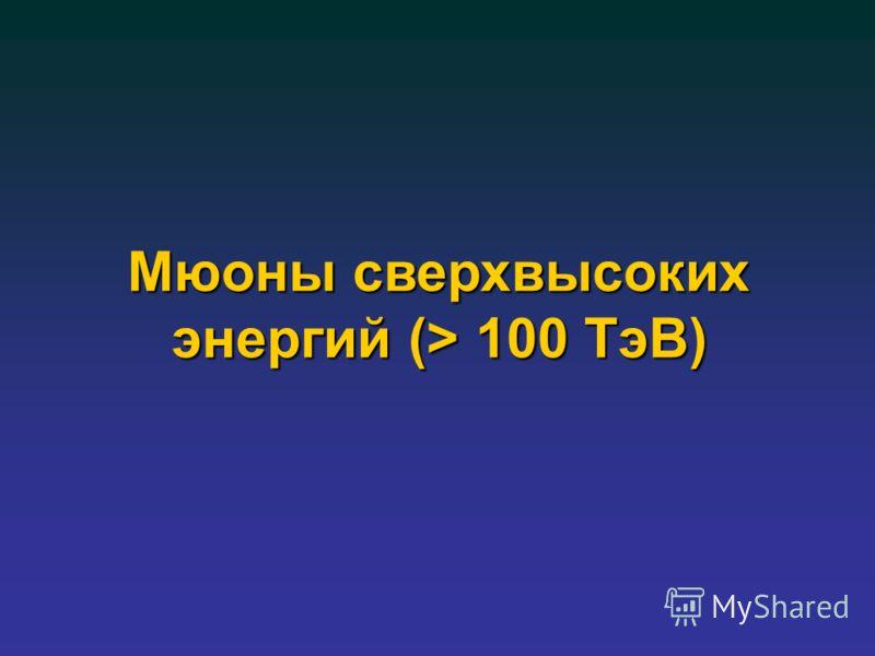 Мюоны сверхвысоких энергий (> 100 ТэВ)