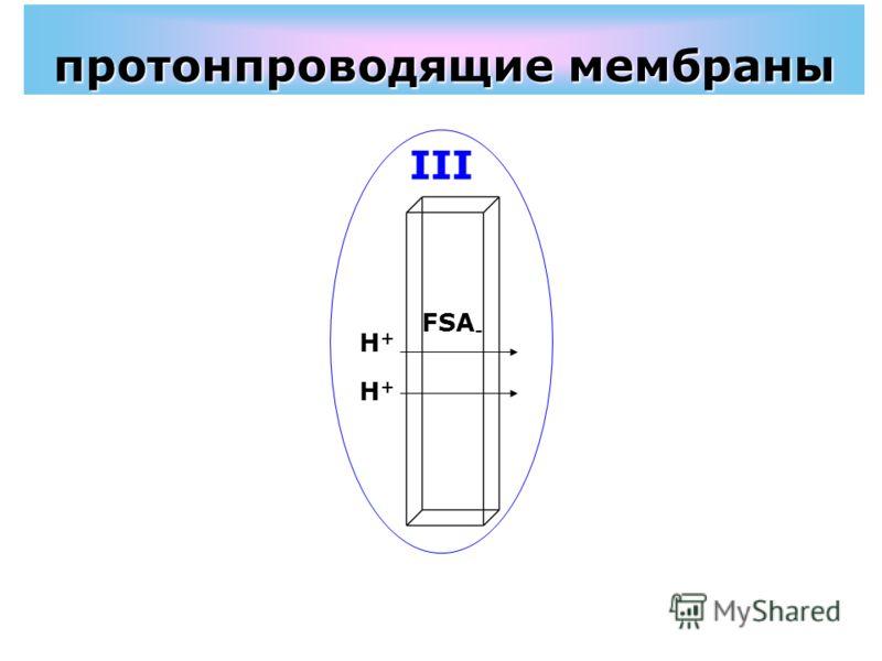 протонпроводящие мембраны FSA - H+H+ H+H+ III