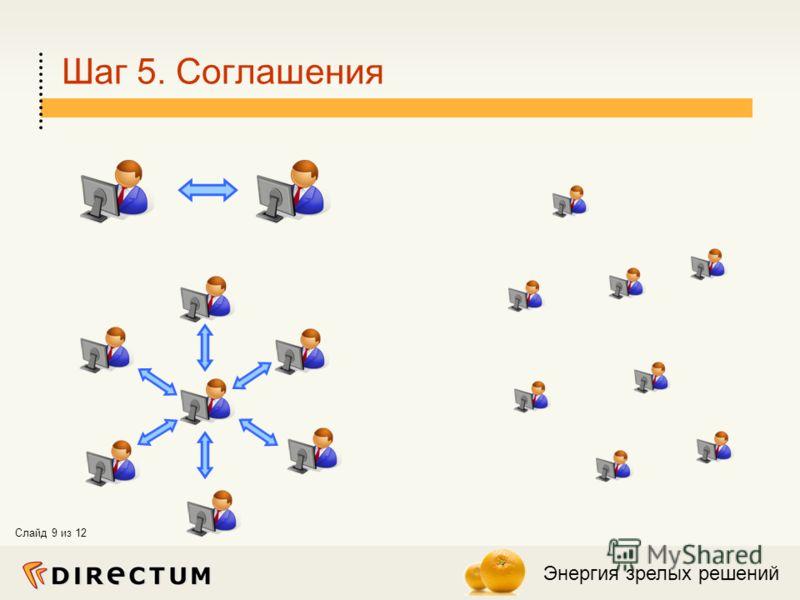 Энергия зрелых решений Слайд 9 из 12 Шаг 5. Соглашения