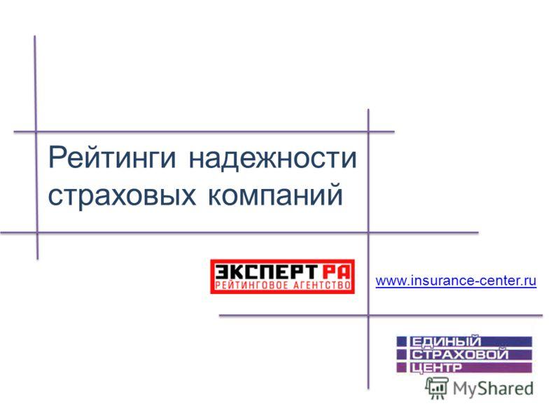 Рейтинги надежности страховых компаний www.insurance-center.ru