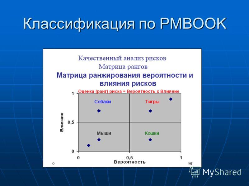 Классификация по PMBOOK