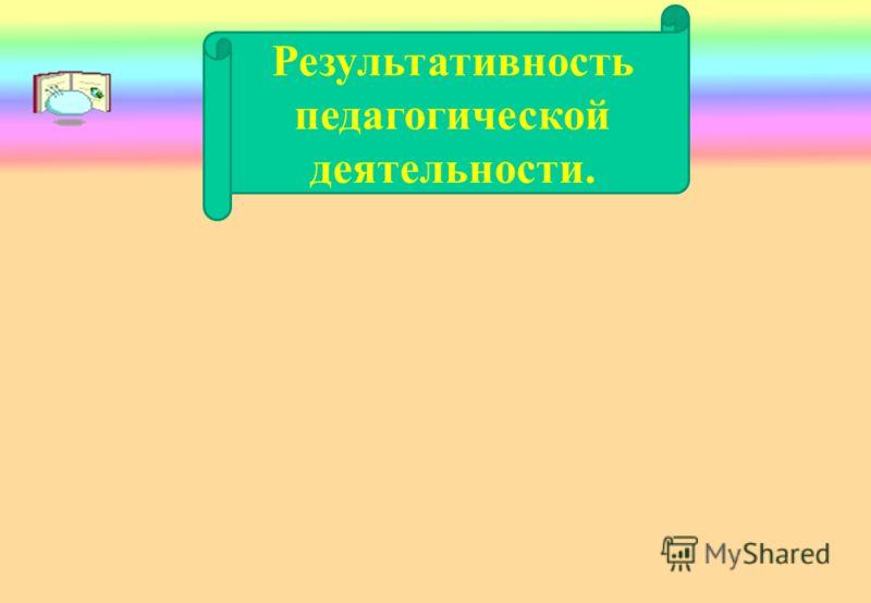Результативность педагогической деятельности.