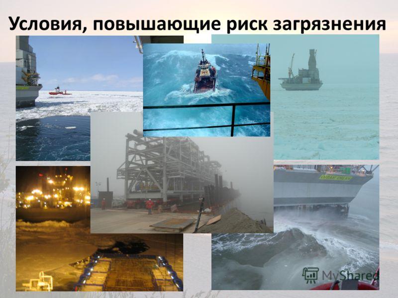 Условия, повышающие риск загрязнения 3