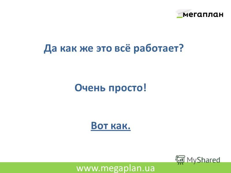 www.megaplan.ua Да как же это всё работает? Очень просто! Вот как.