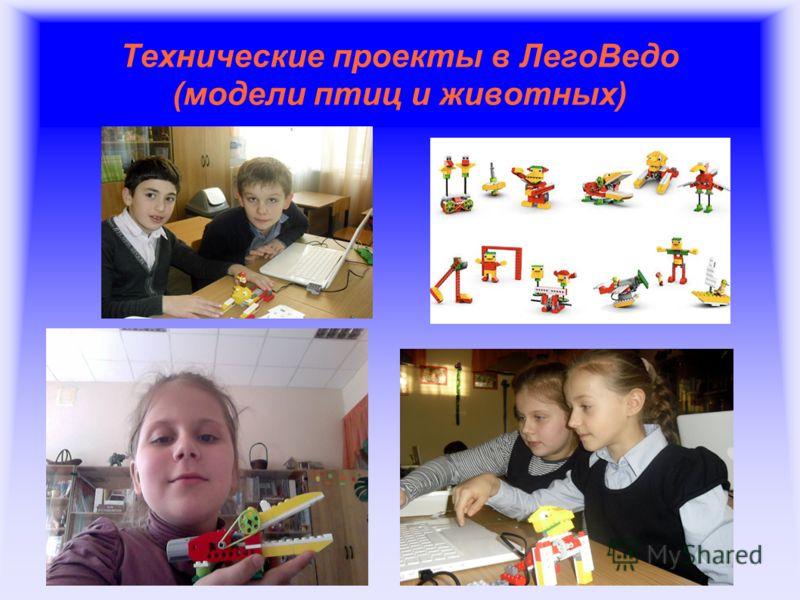 Технические проекты в ЛегоВедо (модели птиц и животных)
