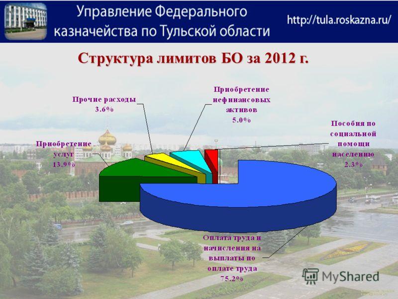 Структура лимитов БО за 2012 г.