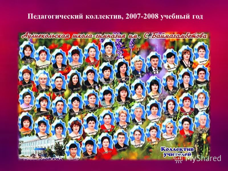 Педагогический коллектив, 2007-2008 учебный год