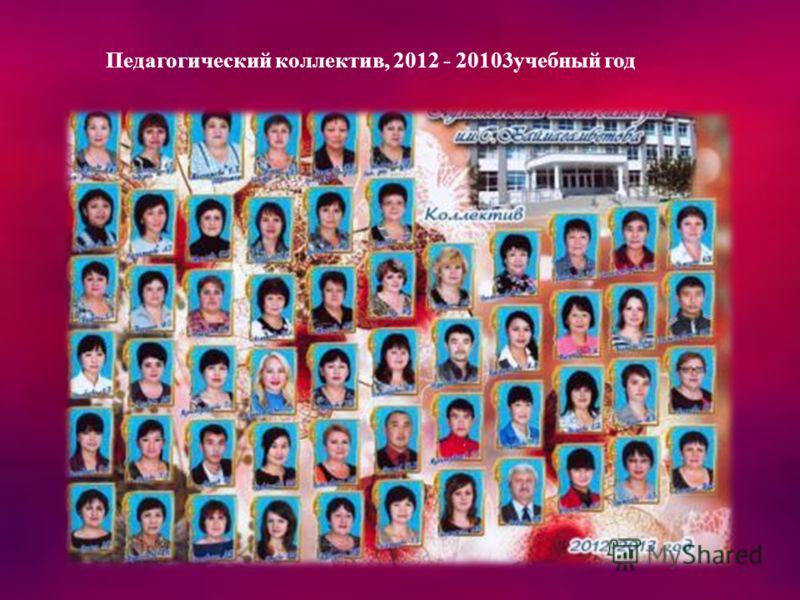 Педагогический коллектив, 2012 - 20103учебный год