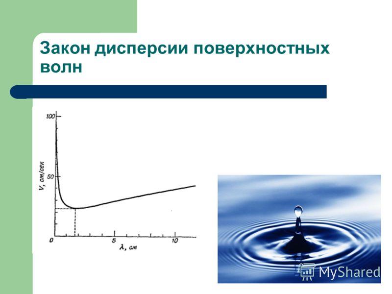 Закон дисперсии поверхностных волн