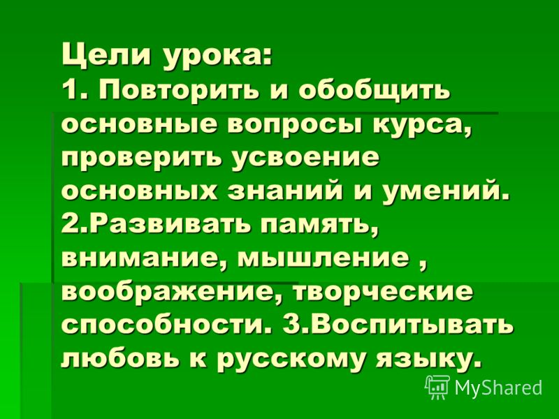 Тема урока: «Турнир знатоков русского языка»