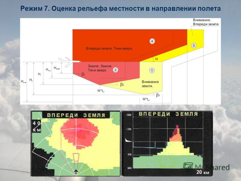 Режим 7. Оценка рельефа местности в направлении полета