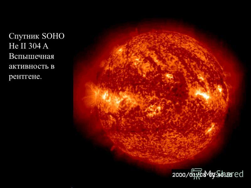 Slide 17 Спутник SOHO He II 304 A Вспышечная активность в рентгене.
