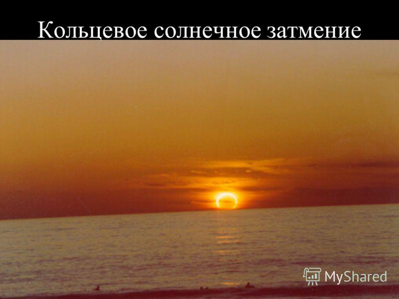 Slide 30 Кольцевое солнечное затмение