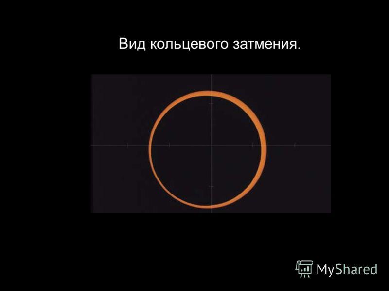 Slide 45 Вид кольцевого затмения.