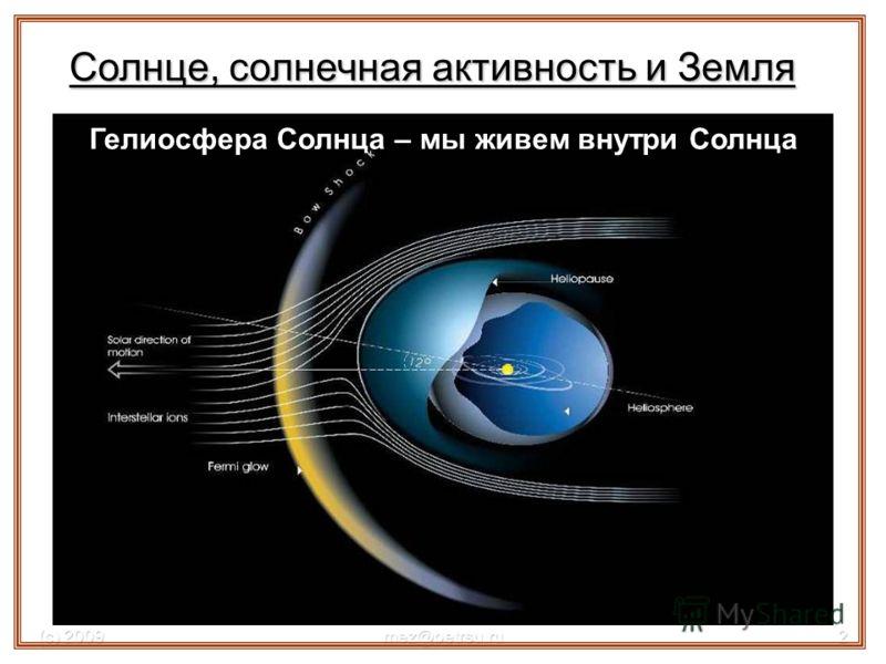 (с) 2009mez@petrsu.ru2 Гелиосфера Солнца – мы живем внутри Солнца Солнце, солнечная активность и Земля