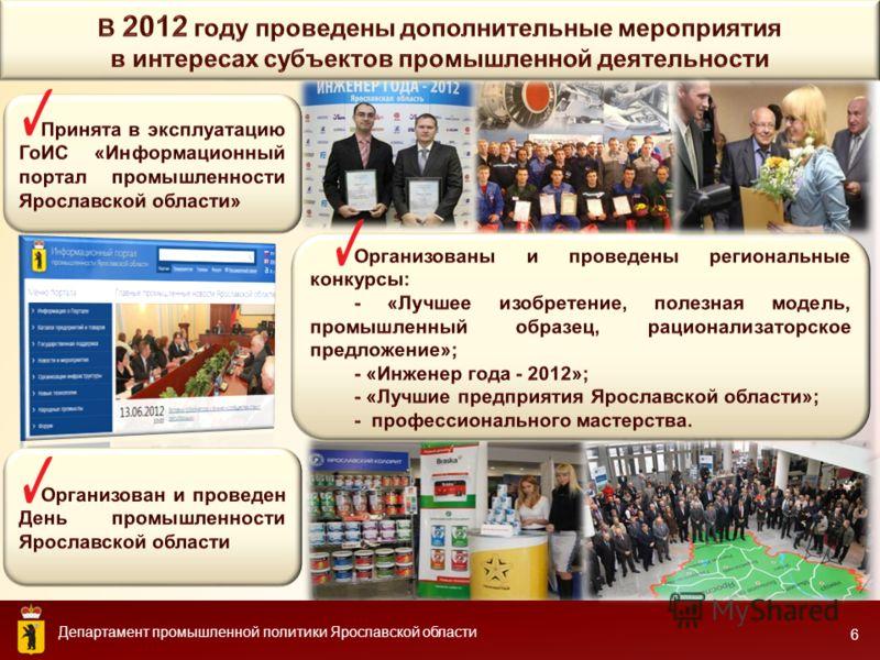 Департамент промышленной политики Ярославской области 6