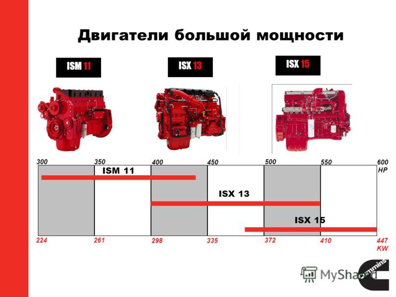 Двигатели большой мощности 300 224 350 261 400 298 450 335 500 372 550 410 600 HP 447 KW ISM 11 ISX 13 ISX 15 ISM 11 ISX 13 ISX 15
