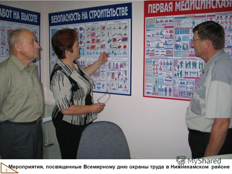 1 Мероприятия, посвященные Всемирному дню охраны труда в Нижнекамском районе 1