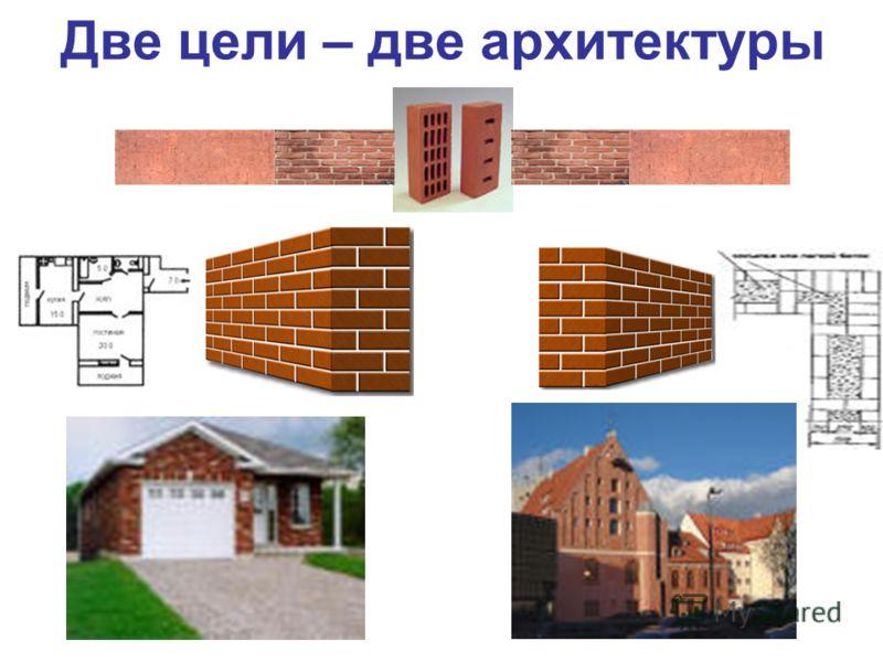 Две цели – две архитектуры