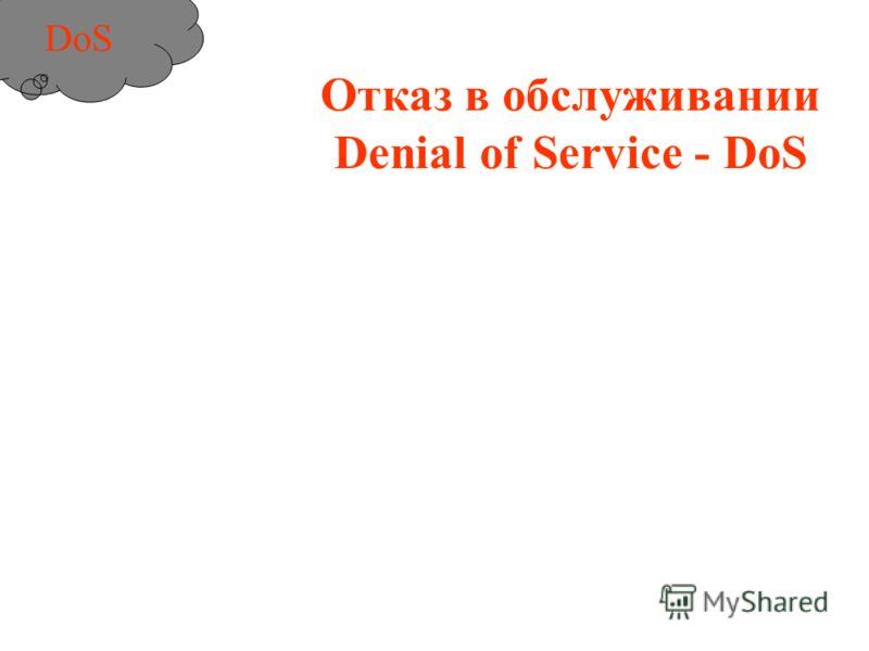 Отказ в обслуживании Denial of Service - DoS DoS