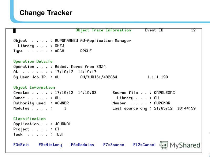24 Change Tracker