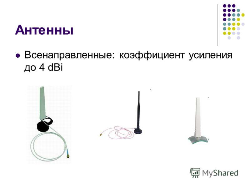 Антенны Всенаправленные: коэффициент усиления до 4 dBi
