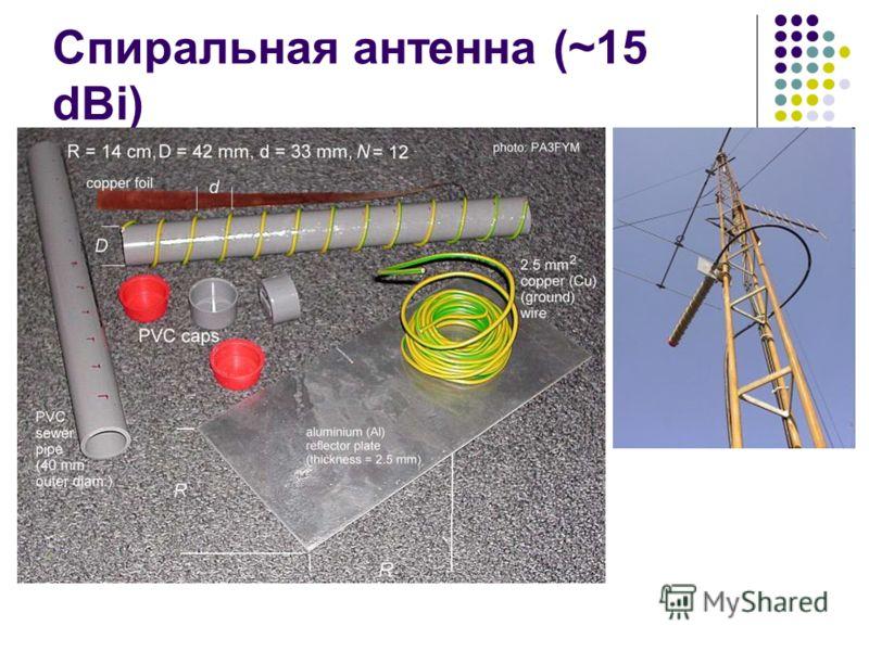 Спиральная антенна (~15 dBi)