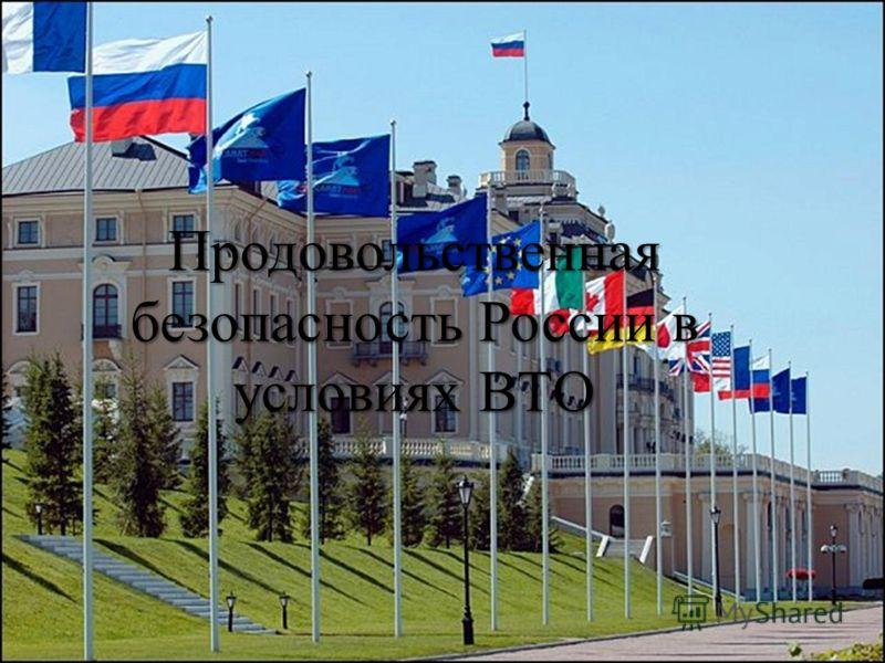 Продовольственная безопасность России в условиях ВТО