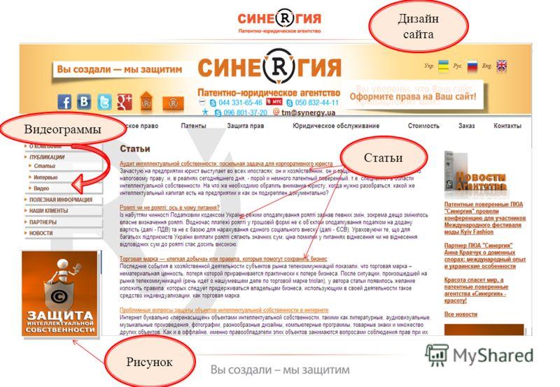 Статьи Видеограммы Дизайн сайта Рисунок