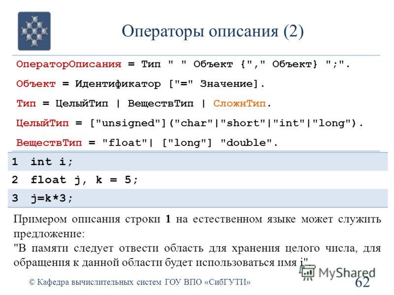 ОператорОписания = Тип