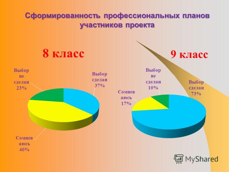 Сформированность профессиональных планов участников проекта