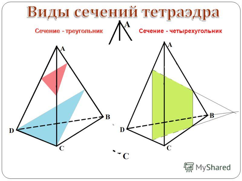 Сечение - четырехугольник