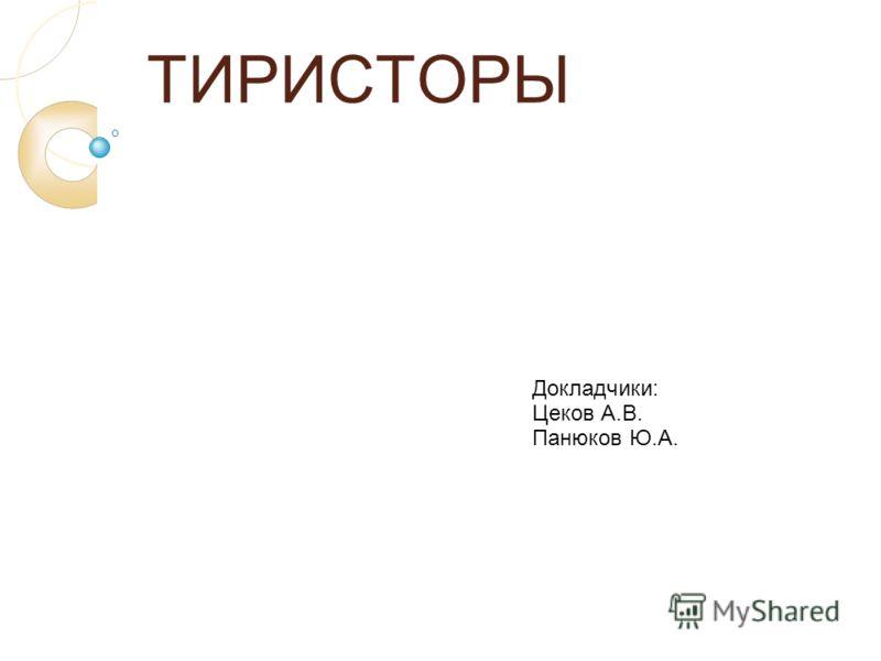 ТИРИСТОРЫ Докладчики: Цеков А.В. Панюков Ю.А.