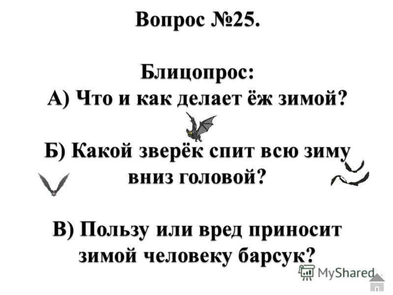 Вопрос 24. Блицопрос: А) Какие дрова самые жаркие? Б) Листья каких деревьев осенью краснеют? В) Какое дерево даёт по весне сладкий сок?