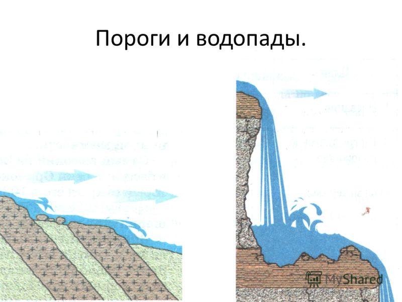 Пороги и водопады.