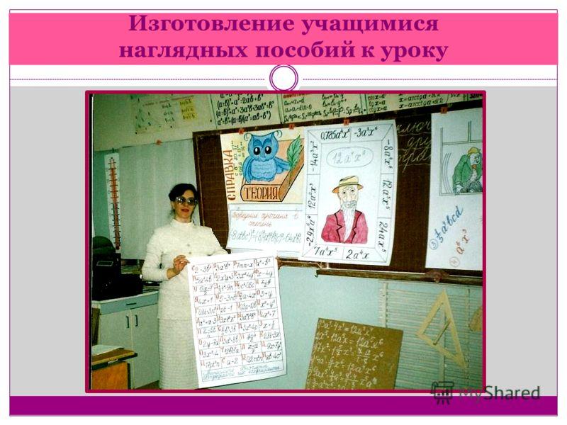 Изготовление учащимися наглядных пособий к уроку