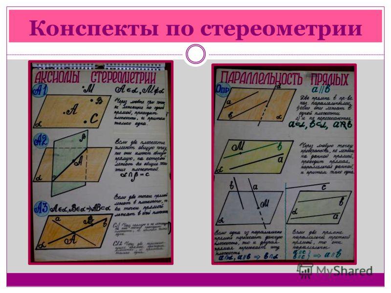 Конспекты по стереометрии