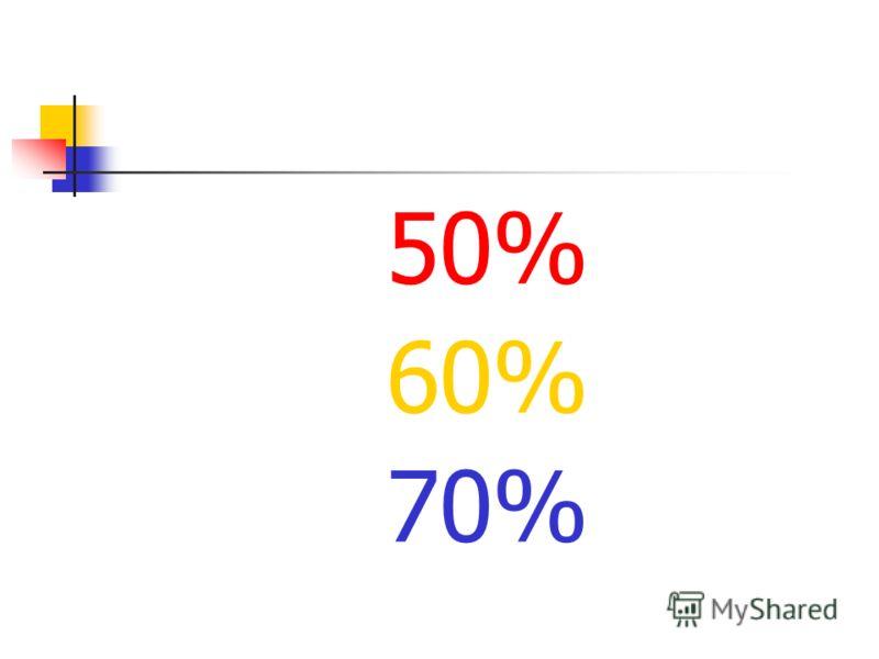 50% 60% 70%