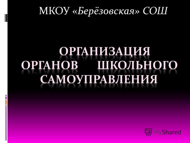 МКОУ «Берёзовская» СОШ