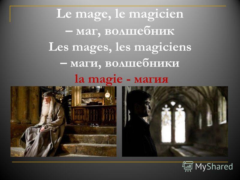 Le mage, le magicien – маг, волшебник Les mages, les magiciens – маги, волшебники la magie - магия