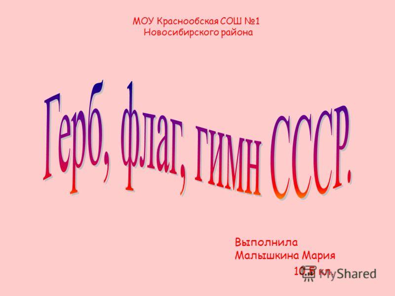 Выполнила Малышкина Мария 10 Б кл. МОУ Краснообская СОШ 1 Новосибирского района