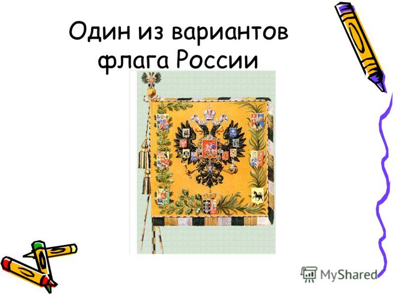 Один из вариантов флага России