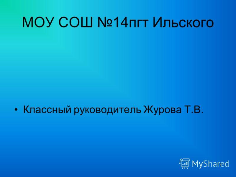 МОУ СОШ 14пгт Ильского Классный руководитель Журова Т.В. 1